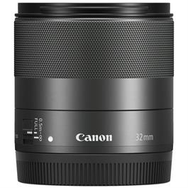 Canon EF-M 32mm lens f/1.4 Macro IS STM Front with Cap